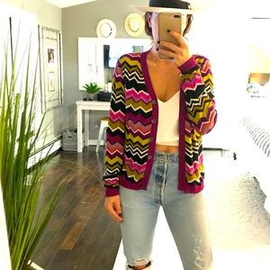 Missoni x target chevron cardigan sweater small